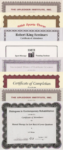 Certificate collage